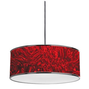 Dainolite  Pendant Light - 3-Light - 20-in x 8-in - Red