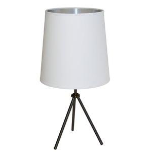Dainolite Oversized Drum Table Lamp - 1-Light - 30-in - Matte Black