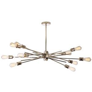 Dainolite Nebraska Pendant Light - 10-Light - 17-in x 17-in - Chrome