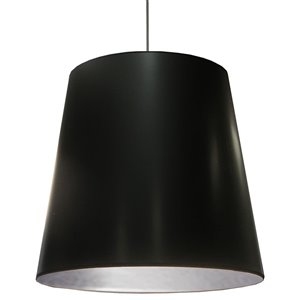 Dainolite Oversized Drum Pendant Light - 1-Light - 32-in x 32-in - Black