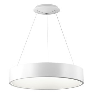 Dainolite LED Pendant Light - 1-Light - 24-in x 4-in - White