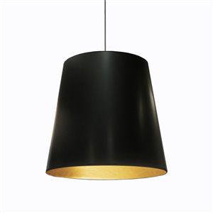 Dainolite Oversized Drum Pendant Light - 1-Light - 26-in x 21-in - Black
