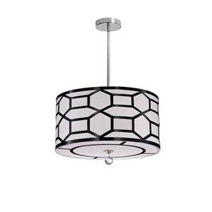 Dainolite Pembroke Pendant Light - 4-Light - 19-in x 7-in - Black