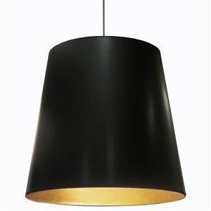 Dainolite Oversized Drum Pendant Light - 1-Light - 32-in x 26-in - Black