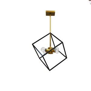 Dainolite Kappa Pendant Light - 4-Light - 14-in x 17-in - Vintage Bronze