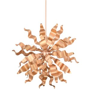 Dainolite Miramar Pendant Light - 8-Light - 26-in x 26-in - Rose Gold