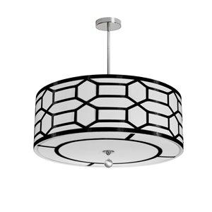 Dainolite Pembroke Pendant Light - 4-Light - 24-in x 8-in - Black