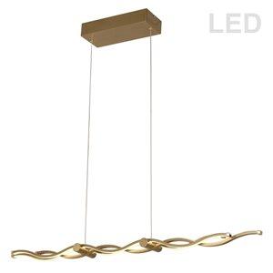 Dainolite Florence Pendant Light - 3-Light - 40-in x 3-in - Aged Brass