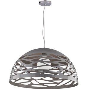Dainolite Coral Pendant Light - 1-Light - 20-in x 10.75-in - Silver
