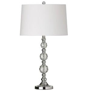 Dainolite Crystal Table Lamp - 1-Light - 29.25-in - White