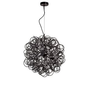 Dainolite Baya Pendant Light - 6-Light - 18-in x 18-in - Black