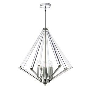 Dainolite Aalto Pendant Light - 8-Light - 27-in x 29-in - Polished Chrome