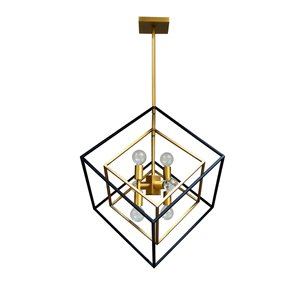 Dainolite Kappa Pendant Light - 6-Light - 19-in x 24-in - Vintage Bronze