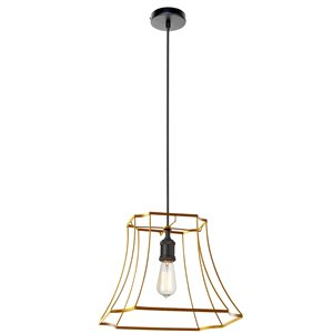 Dainolite Belenko Pendant Light - 1-Light - 19-in x 13.75-in - Gold