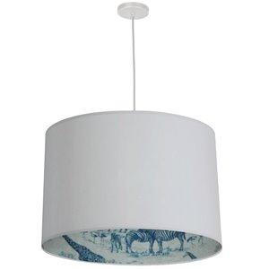 Dainolite Kate Pendant Light - 3-Light - 24-in x 15-in - Matte White/Aqua
