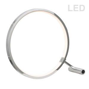 Dainolite Table Lamp - 1-LED Light - 12-in - Polished Chrome