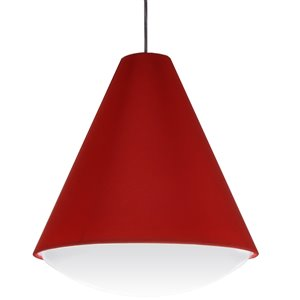 Dainolite Pendants Pendant Light - 1-Light - 17-in x 18.5-in - Red