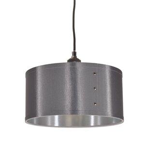 Dainolite Fayette Pendant Light - 1-Light - 12-in x 8.5-in - Silver