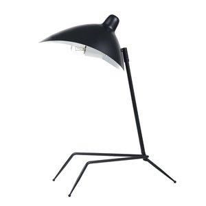 Dainolite Table Lamp - 1-Light - 21-in - Matte Black