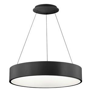 Dainolite LED Pendant Light - 1-Light - 24-in x 4-in - Black