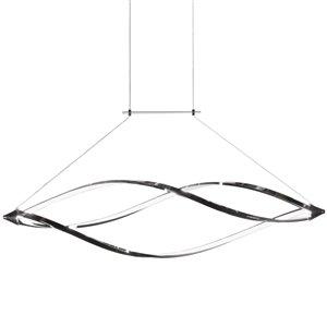 Dainolite Selene Pendant Light - 1-Light - 43-in x 10-in - Polished Chrome