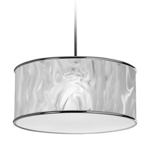 Dainolite  Pendant Light - 3-Light - 20-in x 8-in - White