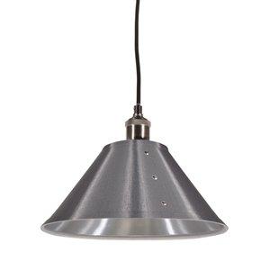 Dainolite Fayette Pendant Light - 1-Light - 12-in x 8-in - Silver