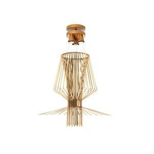 Dainolite Campana Pendant Light - 3-Light - 29-in x 34.5-in - Gold Semi-Gloss