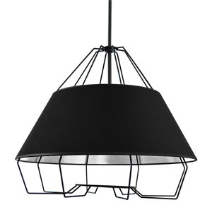 Dainolite Rockwell Pendant Light - 4-Light - 24-in x 20-in - Black/Silver