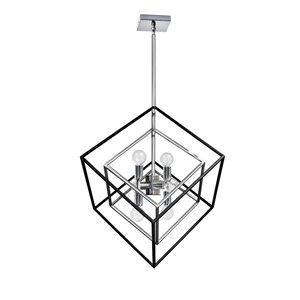 Dainolite Kappa Pendant Light - 6-Light - 19-in x 24-in - Polished Chrome