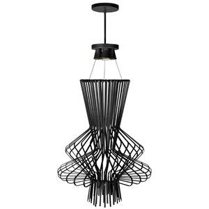 Dainolite Campana Pendant Light - 4-Light - 25-in x 42.5-in - Black Semi-Gloss