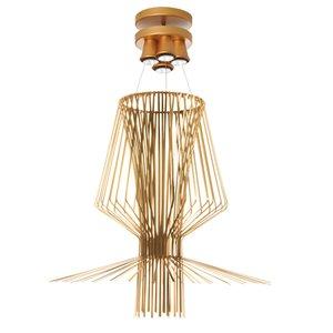 Dainolite Campana Pendant Light - 4-Light - 40-in x 42.5-in - Gold Semi-Gloss