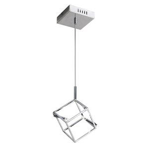Dainolite Cubo Pendant Light - 2-Light - 6.5-in x 7-in - Polished Chrome