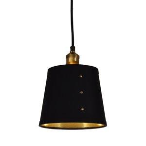 Dainolite Fayette Pendant Light - 1-Light - 8-in x 9.5-in - Black/Gold