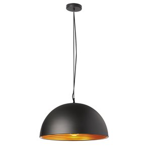 Dainolite Helsinki Pendant Light - 1-Light - 20-in x 10-in - Matte Black