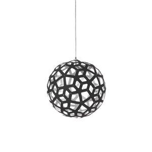 Dainolite Talini Pendant Light - 1-Light - 14-in x 14-in - Black
