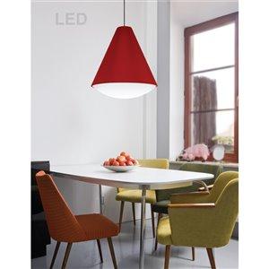 Dainolite Pendants Pendant Light - 1-Light - 12.5-in x 14-in - Red