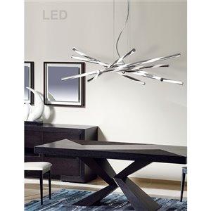 Dainolite Pirouette Pendant Light - 1-Light - 36-in x 8-in - Polished Chrome