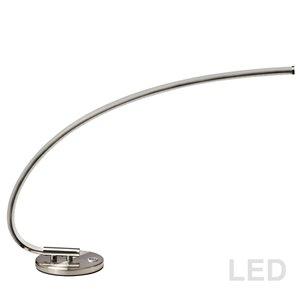Dainolite Table Lamp - 1-LED Light - 19-in - Satin Chrome