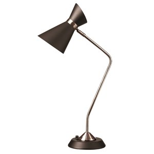 Dainolite Mid Century Modern Table Lamp - 1-Light - 26.5-in - Polished Chrome