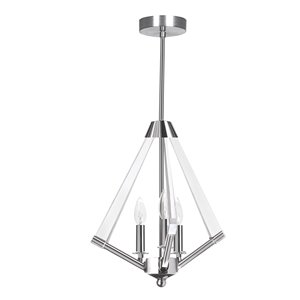 Dainolite Aalto Pendant Light - 5-Light - 13-in x 23-in - Polished Chrome