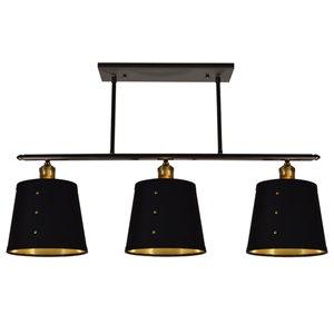 Dainolite Fayette Pendant Light - 3-Light - 34-in x 11-in - Vintage Steel