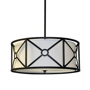 Dainolite Cruz Pendant Light - 3-Light - 17-in x 8-in - Oil Rubbed Bronze