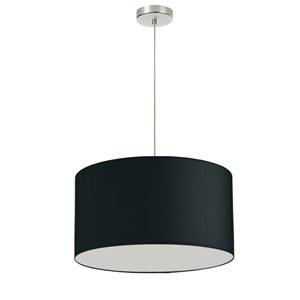 Dainolite Oversized Drum Pendant Light - 1-Light - 19-in x 11-in - Black