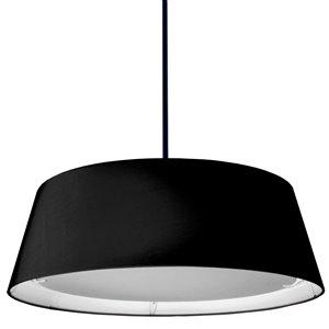 Dainolite LED Pendant Light - 1-Light - 24-in x 8-in - Black