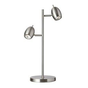 Dainolite Table Lamp - 2-Light - 24-in - Satin Chrome