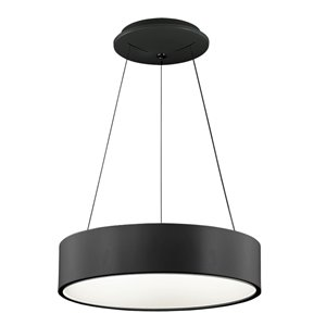 Dainolite LED Pendant Light - 1-Light - 18-in x 4-in - Black