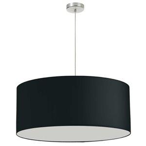 Dainolite Oversized Drum Pendant Light - 1-Light - 28-in x 16.5-in - Black