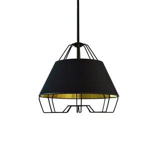 Dainolite Rockwell Pendant Light - 1-Light - 15-in x 12.5-in - Black