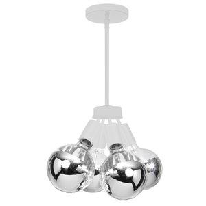 Dainolite Modern Pendant Light - 4-Light - 6-in x 5-in - Matte White